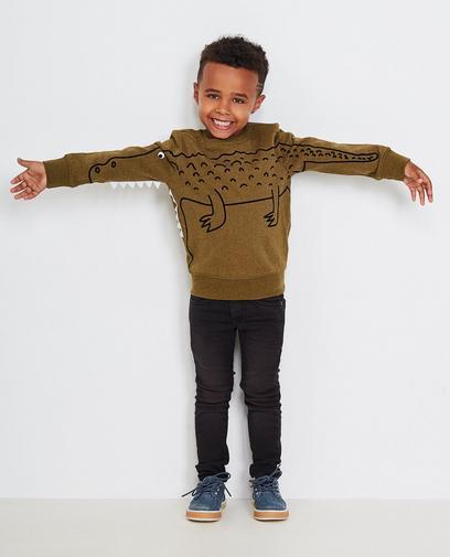 Sweatshirt mit Krokodil-Print